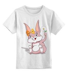 """Детская футболка классическая унисекс """"Зайка"""" - заяц, зайка, зайчик, гороскоп, год кролика"""