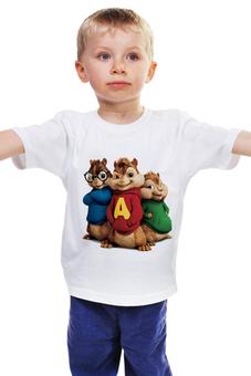 """Детская футболка """"Элвин и бурундуки"""" - кино, фильм, мульт, бурундук"""