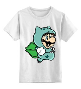 """Детская футболка классическая унисекс """"Марио"""" - mario, pokemon, марио, покемон, покемоны"""