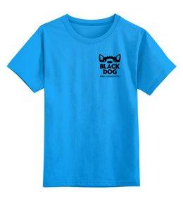 """Детская футболка классическая унисекс """"BlackDog"""" - спорт"""