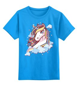 """Детская футболка классическая унисекс """"Единорог"""" - единорог, лошадь"""