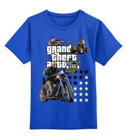 """Детская футболка классическая унисекс """"GTA Live_"""" - компьютерные игры, gta, мотоцикл, гта"""