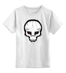 """Детская футболка классическая унисекс """"Череп"""" - skull"""