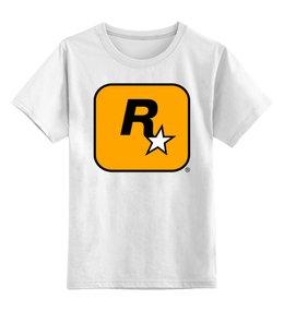 """Детская футболка классическая унисекс """"Rockstar Games"""" - grand theft auto, gta, rockstar, гта, рокстар, rockstar games"""