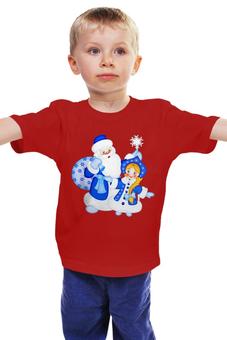 """Детская футболка классическая унисекс """"Дед Мороз и Снегурочка"""" - новый год, дед мороз, снегурочка"""