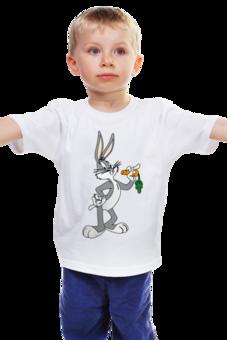 """Детская футболка классическая унисекс """"Кролик Роджер"""" - смешное, мультик, герой, кролик, детское"""