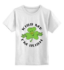"""Детская футболка классическая унисекс """"Клевер"""" - удача, клевер"""