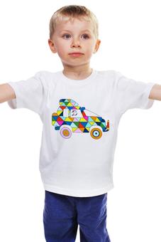 "Детская футболка ""Джип 4х4"" - арт, 4х4, графика, машина, джип"