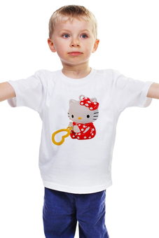 """Детская футболка """"КОШКА КИТИ.ИГРУШКА. МУЛЬТ. KITTY."""" - кошка, kitty, любимая, игрушка, кити"""