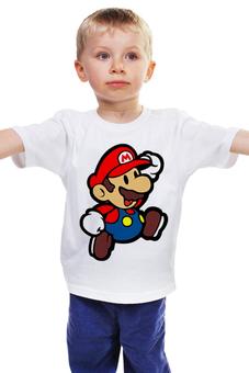 """Детская футболка """"Марио (Mario)"""" - nintendo, 90's, марио, mario bros"""