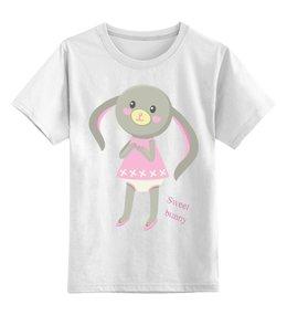 """Детская футболка классическая унисекс """"Сладкий зайчик, Sweet bunny"""" - заяц, зайка, милая, кролик, зая"""