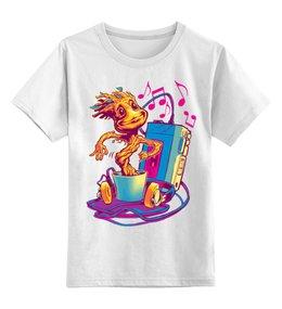 """Детская футболка классическая унисекс """"Грут."""" - groot, guardians of the galaxy, грут, стражи галактики, музыка"""