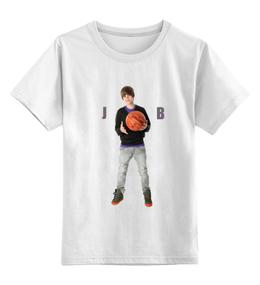 "Детская футболка классическая унисекс ""Justin Bieber "" - музыка, джастин бибер"