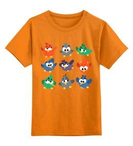 """Детская футболка классическая унисекс """"Смешные птички"""" - птица, птички, птенчик"""
