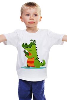 """Детская футболка """"Крокодил Гена"""" - животные, мультфильм, рисунок, крокодил, детский"""