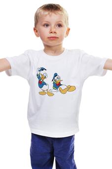 """Детская футболка классическая унисекс """"Дональд Дак 3"""" - дисней, мультфильмы, дональд дак"""