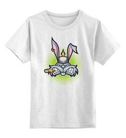 """Детская футболка классическая унисекс """"Багз Банни"""" - юмор, мультфильмы, кролик, карикатура, багз банни"""