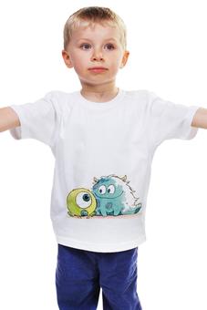 """Детская футболка """"Monsters University"""" - дисней, дети, монстры, ребенок, monsters university"""