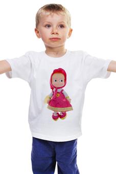 """Детская футболка классическая унисекс """"кукла-ДЕВОЧКА МАША ИЗ МУЛЬТА. СМЕШНАЯ ОЗОРНАЯ."""" - кукла, маша"""