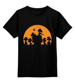 """Детская футболка классическая унисекс """"Чарли Браун"""" - комиксы, peanuts, снупи, чарли браун"""