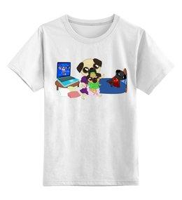 """Детская футболка классическая унисекс """"Мопс-геймер"""" - юмор, фэнтези, геймер, the elder scrolls, мопс"""