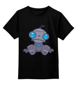 """Детская футболка классическая унисекс """"Sad robot"""" - robot, грусть, робот, sad robot, грустный робот"""