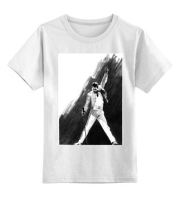 "Детская футболка классическая унисекс ""Freddy by K.Karavaev"" - freddy, queen, karavaev, mercury, fredie"