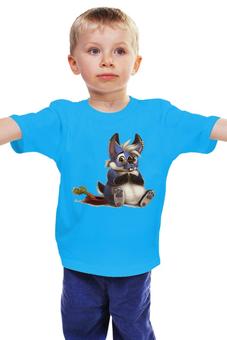 "Детская футболка ""Зверёк "" - бобер, морковка"