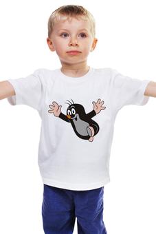 """Детская футболка """"Радостный крот"""" - мультфильмы, крот, чсср"""