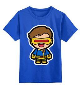 """Детская футболка классическая унисекс """"Циклоп"""" - циклоп, люди х, x-men"""