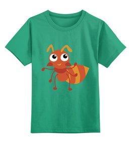 """Детская футболка классическая унисекс """"Муравей"""" - муравей"""