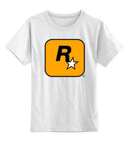 """Детская футболка классическая унисекс """"RockstarGames"""" - оригинально, выделись из толпы"""