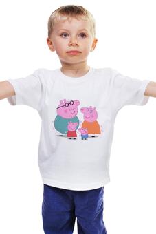 "Детская футболка ""Свинка Пеппа"" - pig, свинка пеппа, peppa, пеппа, peppa pig"