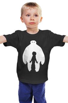 """Детская футболка """"Hiro and Baymax """" - город героев, big hero 6, baymax, hiro hamada, хиро в бэймаксе"""