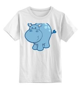 """Детская футболка классическая унисекс """"Бегемотик"""" - авторские майки"""