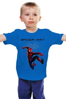 """Детская футболка """"Человек паук"""" - spider man, человек паук, паук"""