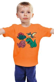 """Детская футболка """"Динозавры"""" - мультфильм, рисунок, детский, динозавры, стильный"""