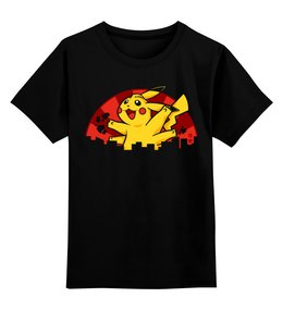 """Детская футболка классическая унисекс """"Покемон(Pokemon)"""" - аниме, pokemon, покемон, пикачу, pikachu"""