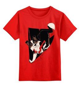 """Детская футболка классическая унисекс """"Собака"""" - dog, щенок, собака, пёс"""