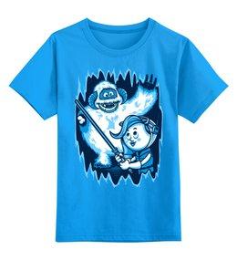 """Детская футболка классическая унисекс """"Снежный человек"""" - йети, снежный человек"""