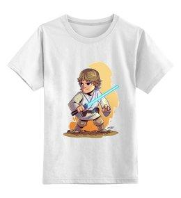 """Детская футболка классическая унисекс """"Люк Скайуокер"""" - star wars, фильмы, звездные войны, световой меч, люк скайуокер"""
