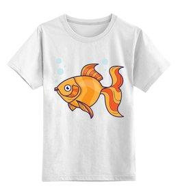 """Детская футболка классическая унисекс """"Золотая рыбка"""" - золотая рыбка, рыба, сказка, детский, рисунок"""