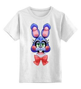 """Детская футболка классическая унисекс """"Бонни"""" - бонни, пять ночей у фредди, five nights at freddys"""