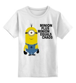 """Детская футболка классическая унисекс """"Миньоны Minions"""" - minions, миньоны"""