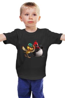 """Детская футболка классическая унисекс """"Цыпленок"""" - мульт, цыпленок, курица"""