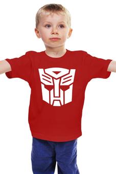 """Детская футболка классическая унисекс """"Transformers Autoboats team"""" - роботы, transformers, трансформеры, автоботы, мульфильм"""