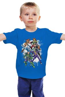 """Детская футболка """"Готэм"""" - комиксы, джокер, готэм, суперзлодеи"""
