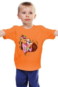 "Детская футболка ""Девочка с кошкой "" - фея, школа волшебниц, винкс клуб"