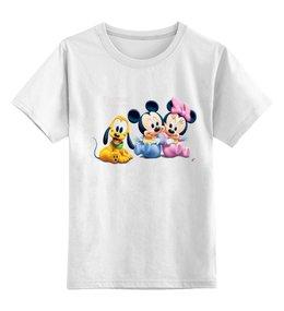 """Детская футболка классическая унисекс """"Disney baby"""" - микки маус, mickey mouse, disney baby, малыши диснея"""