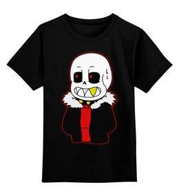 """Детская футболка классическая унисекс """"Санс."""" - андертейл, undertale, санс"""
